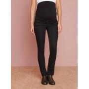 Jeans slim para grávida em tecido stretch, entrepernas 78 cm preto