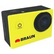 Camera video sport Braun Paxi young -Galbena