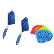 Kurvz 2 Carpet Brush Microfibre Wet and Dry Brush with 4 Microfiber Glove