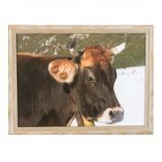 Laptray Winter Zwitserse koe