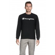 Champion Sweater, gerader Schnitt, Rundhals schwarz