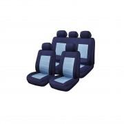 Huse Scaune Auto Matiz Blue Jeans Rogroup 9 Bucati