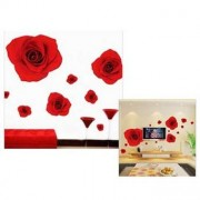 TipTop Wall Stickers Red Rose Pattern
