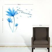 SS creators Small Wall sticker decals Beautiful Blue floers Sticker