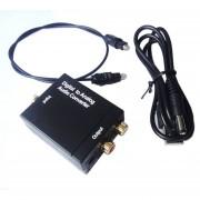 Coaxial óptico Toslink RCA De Señal Al Adaptador Del Convertidor CAJA Audio Analógico