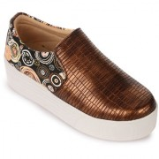 Naisha Women Brown Casual Shoes