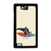 Y&M Huawei Honor 3c Cell Phone Case Batman And Super Man Pattern Cover (Multicolor)