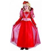 Vegaoo Medeltida drottningdräkt för barn till maskeraden 110 - 120 cm S (4 - 6 år)
