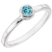 Natural Stone Topaz Ring Original & Effective Stone Blue Topaz Silver Plated Ring By Jaipur Gemstone