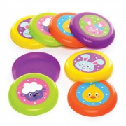 Baker Ross Easter Flying Discs - 8 Toy Frisbees In Assorted Colours. Flying Disc Toy. Party Bag Filler For Kids. Size 9cm.