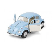 Kinsmart Magicwand 1:32 Die-Cast 1967 Volkswagen Classical Beetle Ivory Door with Openable Doors and Pull Back Action