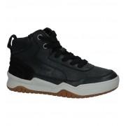 Geox Zwarte Hoge Sneakers met Rits/Veter Geox