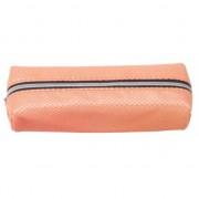 Oranje schrijfwaren etui 19 cm