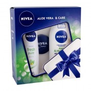 Nivea Aloe & Hydration confezione regalo lozione corpo 250 ml + deodorante Fresh Pure 150 ml + Nivea Creme 30 ml