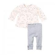 Bluza roz cu stelute si pantaloni fetite