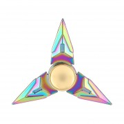 Tres Hojas Dedo Mano Spinner Spinner Rápido Dedo De Cojinete Juguete Juguetes Fingertip -Colorido