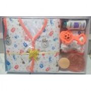 New Born Baby Gift Set With 6 Items (Orange)