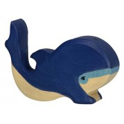 Holztiger Little Blue Whale Toy Figure