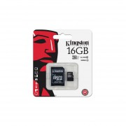 Memoria Kingston MicroSDHC UHS-1 De 16 GB, Clase 10, Incluye Adaptador SD. SDC10G2/16GB