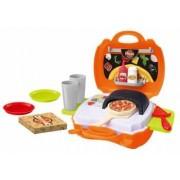 Set de facut pizza pentru copii valiza portabila 21 piese My Carry Along Pizza Shop