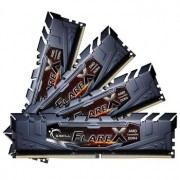 Memorie G.Skill Flare X Black 64GB (4x16GB) DDR4 2400MHz CL16 1.2V AMD Ryzen Ready Dual Channel Quad Kit, F4-2400C16Q-64GFX