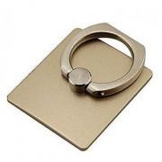 Techvik 360 Rotating Golden Metal Ring Mobile Holder