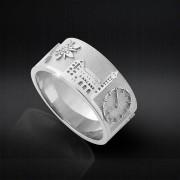 CiaoRing.Schweiz - Fingerring Damen & Herren Silber 925 Grösse 54