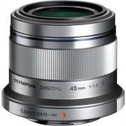 Olympus 45mm F/1.8 Ed M.Zuiko - Argento - 4 Anni Di Garanzia