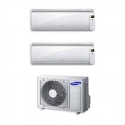 Samsung Condizionatore New Style Dual Split 9000+9000 9+9 Btu Inverter Aj050fcj2eh/eu A++