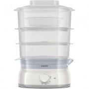 Philips Уред за готвене на пара Daily Collection 3, 9 L, 900 W, съд за ориз/супа, инфузер за подправки и аромати, контейнер за я