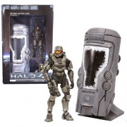 """Mc Farlane Toys Year 2012 Video Game Series """"Halo 4"""" 5 Inch Tall Action Figure Vehicle Set Unsc (United Nations Space Command) Cryotube With Moving Door Plus Master Chief Figure With Blaster Gun"""