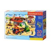 Puzzle maxi Casa in constructie, 20 piese