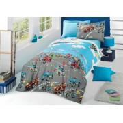 Lenjerie de pat copii City Cars ( stoc limitat )