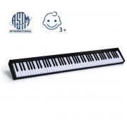 Costway Piano Digital con 88 Teclas 128 Ritmos 128 Tonos 20 Demos Teclado Electrónico Función Bluetooth Interfaz MIDI USB MP3 Altavoz Externa Auricu