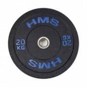 Greutate Bumper Plate 20 kg51 mm HMS HTBR20-albastru