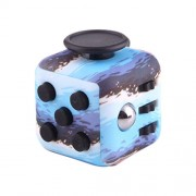 Blue Ocean Pattern Fidget Cube Relieves Stress and Anxiety Attention Toy for Children and Adults