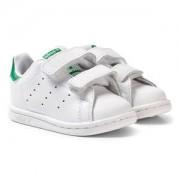 adidas Originals Stan Smith Infants Velcro Sneakers Vit och Grön Barnskor 26 (UK 8)
