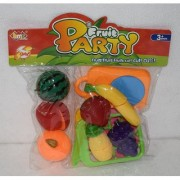 Realistic Sliceable Vegetables and Fruits Mix Cutting Play Toy Set