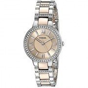 Fossil Virginia Analog Gold Dial Womens Watch - ES3405