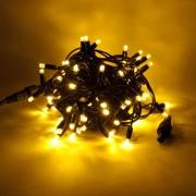 Catena luminosa decoLED- 5 m, LED 60 diodi luce bianca calda, cavo nero
