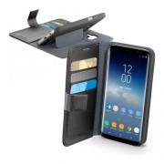 Cellular Line Custodia Effetto Pelle Con Tasche E Stand Per Samsung Galaxy S9, Nero