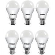 Eveready Base B22 6-Watt LED Bulb (Pack of 6 Cool Day Light)