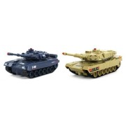 Jxd World Combat Twin Tank Set Electric Rc Tank Set Infrared Combat Battle Tri Band Remote 1:48 Scale Ready To Run Rtr, Comes With 2 Tanks To Wage Infrared Battle