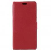 Huawei P8 Lite (2017) Textured Wallet Case - Red
