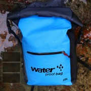 25L Large Capacity Outdoor Sports Backpack Waterproof Foldable Double Shoulder Bag - Sky Blue