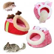 Small Animal Hamster Rat Hedgehog Squirrel Soft Warm Plush Pillow House Nest