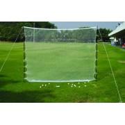 Golfnät utomhus med stolpar och pinnar 210 cm x 300 cm
