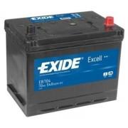 70Ah EXIDE Excell EB704 ASIA autó akkumulátor jobb+