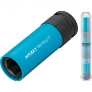 HAZET Impact socket (6-point) 903SLG-17/3 . Square, hollow 12.5 mm (1/2 inch) . Outside hexagon Traction profile . 17 mm . Number of tools: 3