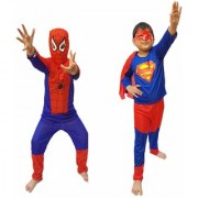 Kaku Fancy Dresses Combo Super Hero Costume CosPlay Costume CaliFor Kidsnia Costume For Kids School Annual function/Theme Party/Competition/Stage Shows/Birthday Party Dress (2 Pieces )